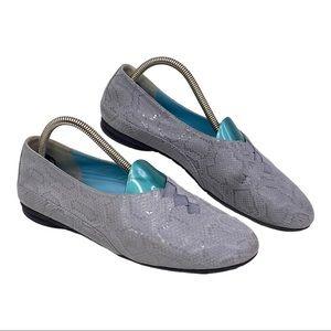 Thierry Rabotin Grace Snakeskin Ballet Flat 7.5